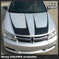 2008 2009 2010 2011 2012 2013 2014 Dodge Avenger hood Decals Stripes 122551589173-1