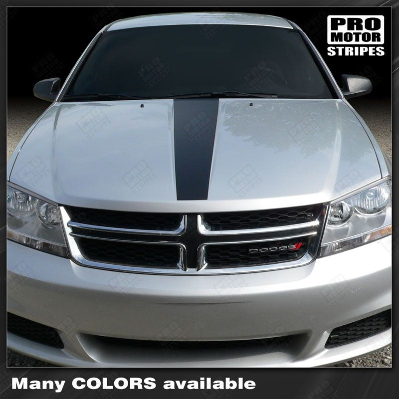 Dodge Avenger Hood Accent Stripes Decals 2011 2012 2013 2014 Pro Motor