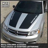 Dodge Avenger 2008-2014 Hood Racing Stripes 122593777581