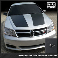 Dodge Avenger 2008-2014 Hood Racing Stripes 122593777581 - 2