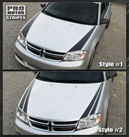 Dodge Avenger 2008-2014 Hood Side Accent Stripes 132229429452