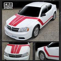 2008 2009 2010 2011 2012 2013 2014 Dodge Avenger hood  side  door  rocker panel Decals Stripes 132229419774-1