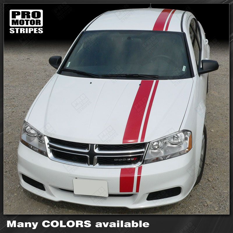 2008 2009 2010 2011 2012 2013 2014 Dodge Avenger hood  side  trunk  bumper  roof Decals Stripes 132229426686-1