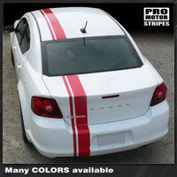 2008 2009 2010 2011 2012 2013 2014 Dodge Avenger hood  side  trunk  bumper  roof Decals Stripes 132229426686-2