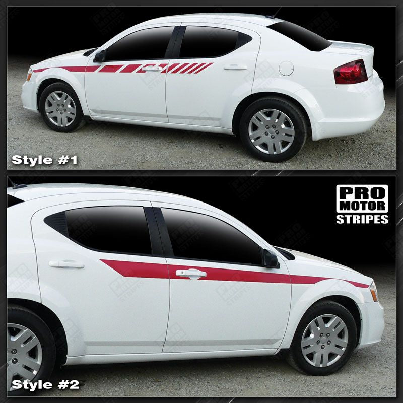 2008 2009 2010 2011 2012 2013 2014 Dodge Avenger side  door Decals Stripes 132229430510-1