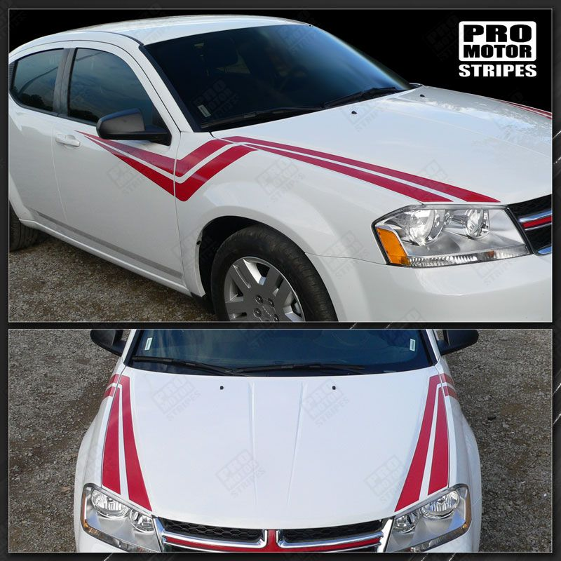 2008 2009 2010 2011 2012 2013 2014 Dodge Avenger hood  side  door Decals Stripes 152588454780-1