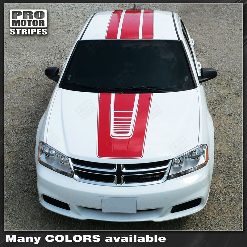 2008 2009 2010 2011 2012 2013 2014 Dodge Avenger hood  trunk  roof Decals Stripes 152588443031-1