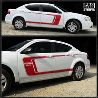 2008 2009 2010 2011 2012 2013 2014 Dodge Avenger side  door  rocker panel Decals Stripes 132229427712-1