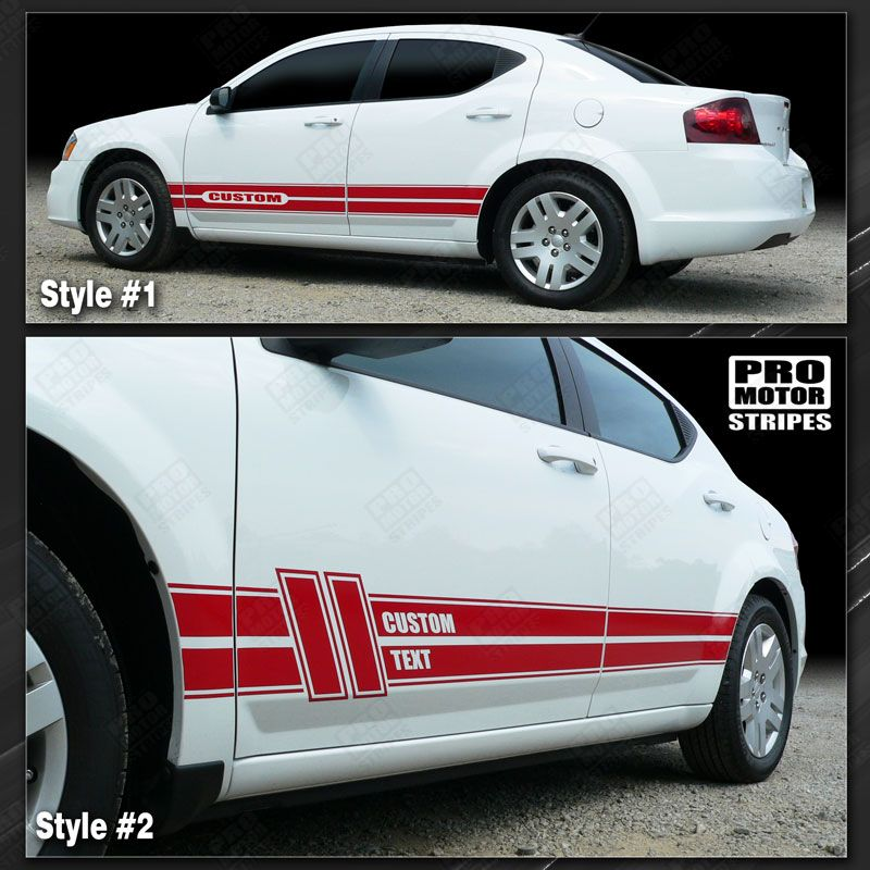 2008 2009 2010 2011 2012 2013 2014 Dodge Avenger side  door  rocker panel Decals Stripes 122593880647-1