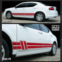 2008 2009 2010 2011 2012 2013 2014 Dodge Avenger side  door  rocker panel Decals Stripes 122593880647-2
