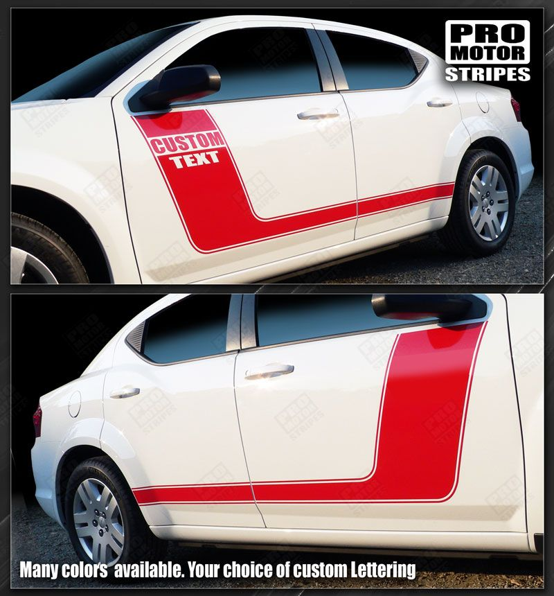 2008 2009 2010 2011 2012 2013 2014 Dodge Avenger side  door  rocker panel Decals Stripes 122551588179-1