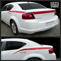 2008 2009 2010 2011 2012 2013 2014 Dodge Avenger side  trunk Decals Stripes 152620442712-1