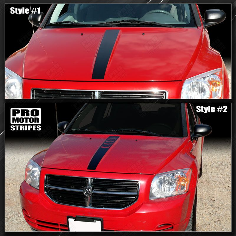 2007 2008 2009 2010 2011 2012 Dodge Caliber hood Decals Stripes 152588457511-1