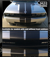 Dodge Challenger 2008-2019 CARBON FIBER Rally Stripes