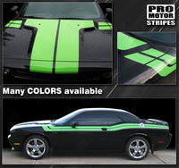 Dodge Challenger 2008-2019 Hood, Fender, Side Dual Stripes