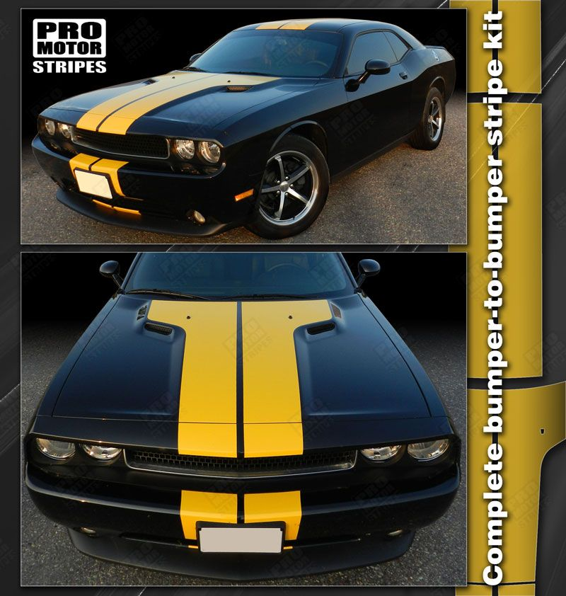 Dodge Challenger Rally Double Center Stripes Decals 2015 2016 2017 2018 2019