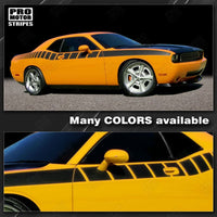 Dodge Challenger 2008-2021 Strobe Cuda Racing Side Stripes