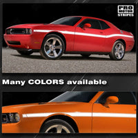 Dodge Challenger 2008-2018 Yellow Jacket Style Mid Body Stripes 152588451850 - 1