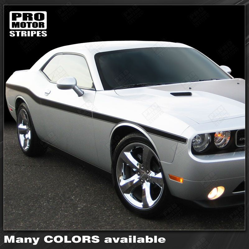 Dodge Challenger 2008 2019 Yellow Jacket Style Mid Body Stripes