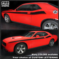 2008 2009 2010 2011 2012 2013 2014 2015 2016 2017 2018 2019 Dodge Challenger side  door Decals Stripes 122551588163-2