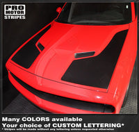 2008 2009 2010 2011 2012 2013 2014 2015 2016 2017 2018 2019 Dodge Challenger hood Decals Stripes 132229427734-2