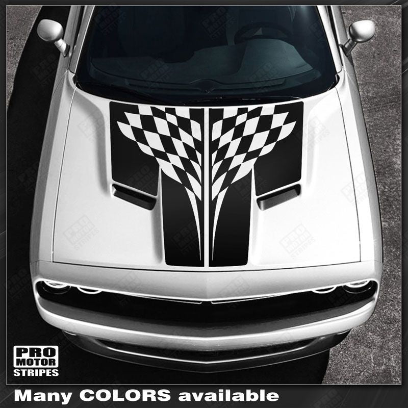 2015 2016 2017 2018 2019 Dodge Challenger hood Decals Stripes 152588450934-1