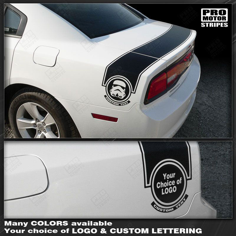 2011 2012 2013 2014 Dodge Charger side  trunk Decals Stripes 152588453975-1