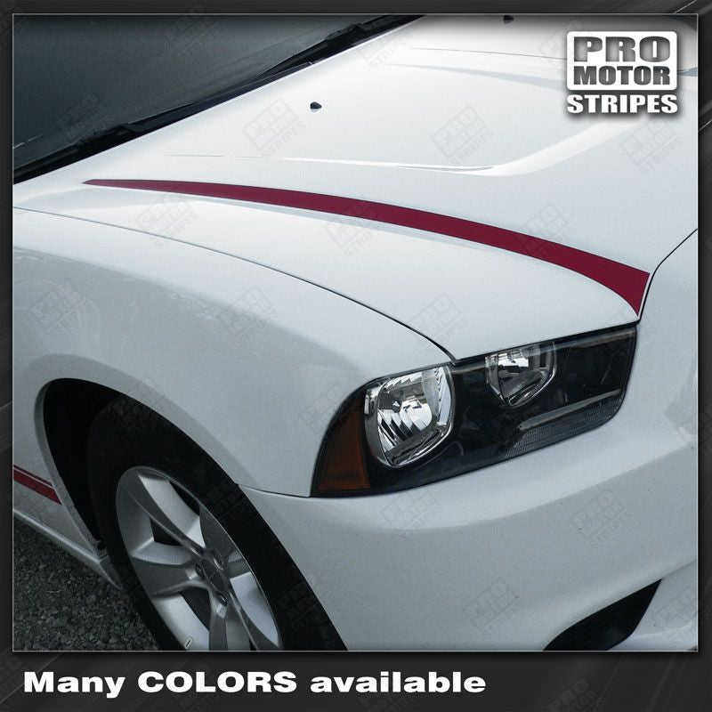 2011 2012 2013 2014 Dodge Charger hood Decals Stripes 132229431513-1
