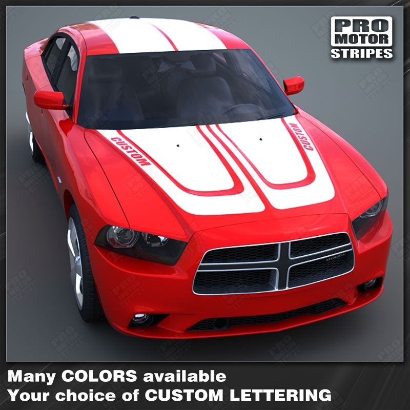 2011 2012 2013 2014 Dodge Charger hood  trunk  roof Decals Stripes 132230362087-1