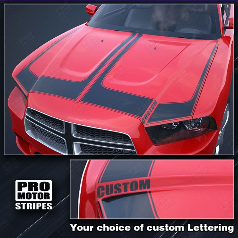 Choose Color Dodge Charger 2011-2014 Racing Hood Accent Stripes Decals