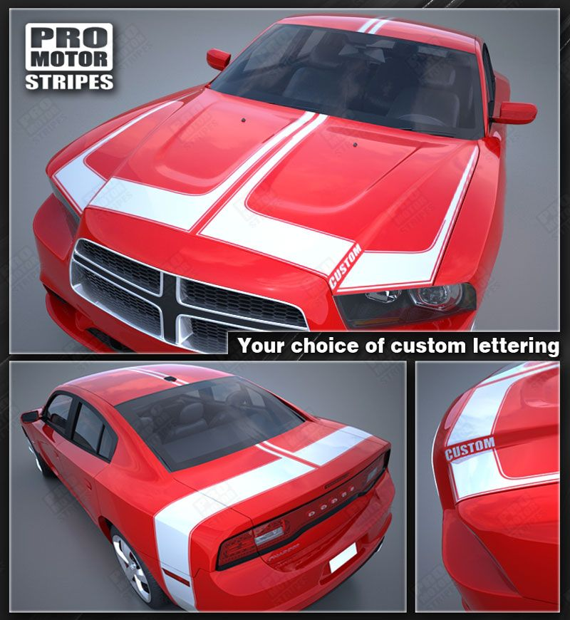2011 2012 2013 2014 Dodge Charger hood  trunk  roof Decals Stripes 122551585376-1