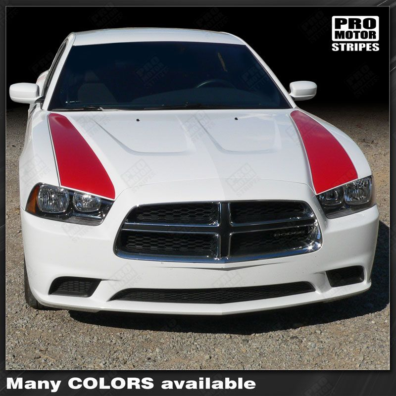 2011 2012 2013 2014 Dodge Charger hood Decals Stripes 132229430436-1