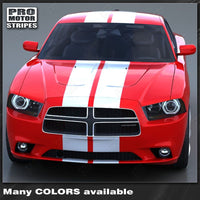 2011 2012 2013 2014 Dodge Charger hood  trunk  bumper  roof Decals Stripes 132264444665-4