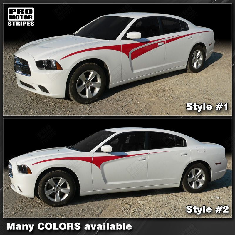 2011 2012 2013 2014 Dodge Charger side  door Decals Stripes 132264724772-1