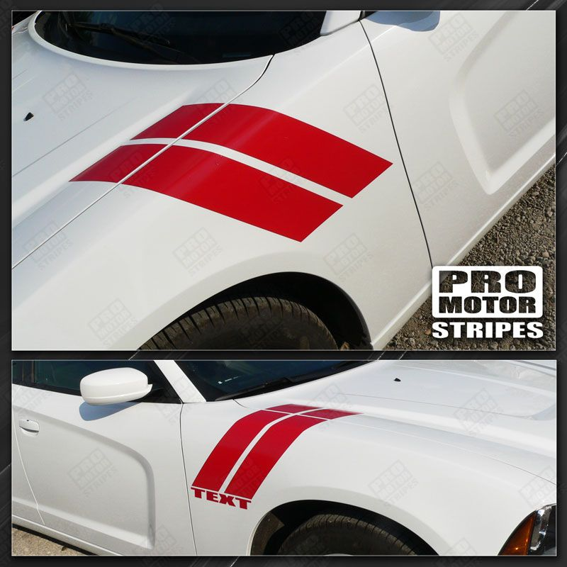 Ford Mustang Fender Hash Double Accent Stripes Decals 2015 2016 2017 Pro Motor