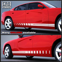 2011 2012 2013 2014 2015 2016 2017 2018 2019 Dodge Charger side  door  rocker panel Decals Stripes 122551590471-1