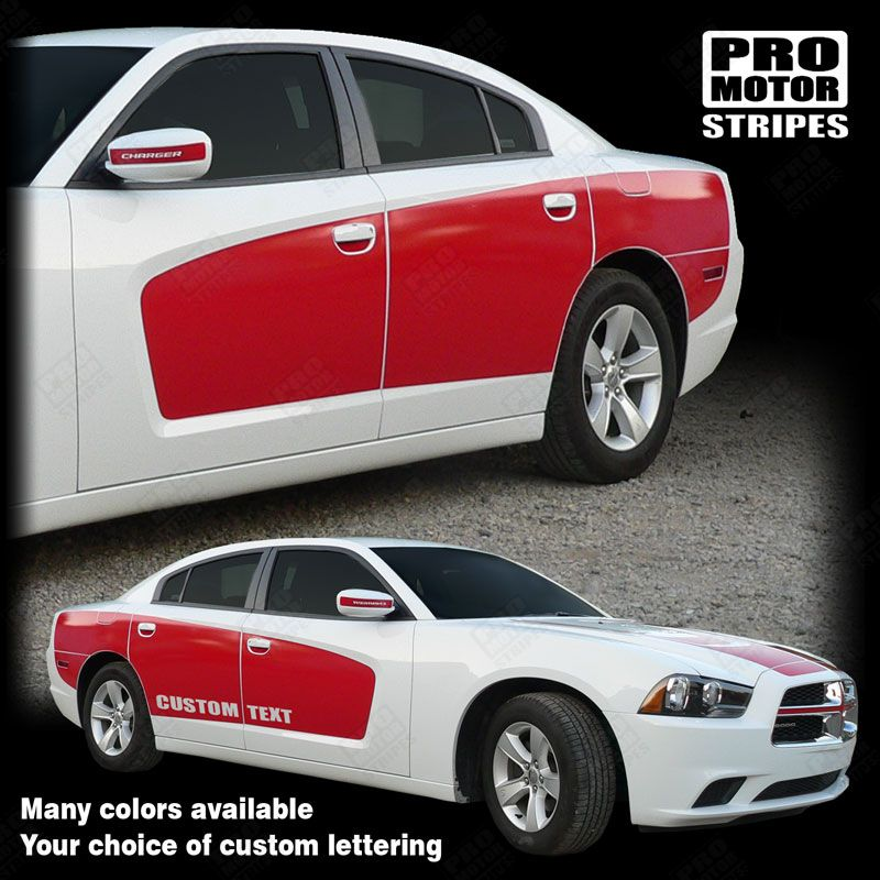 2011 2012 2013 2014 2015 2016 2017 2018 2019 Dodge Charger side  door Decals Stripes 132229519491-1