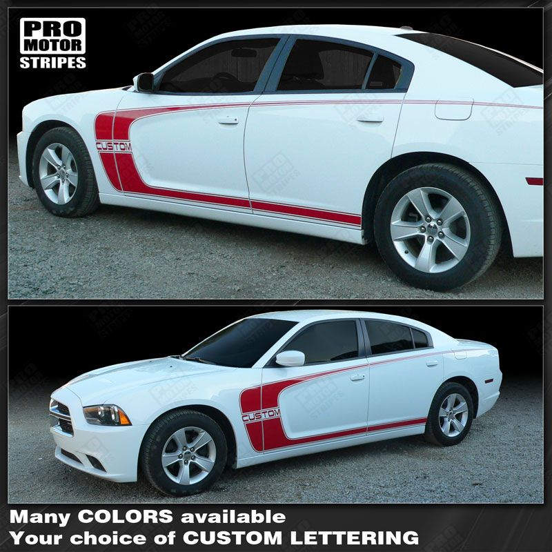 Dodge Charger 2011-2019 Side Scallop Accent C-Stripes Decals Choose Color