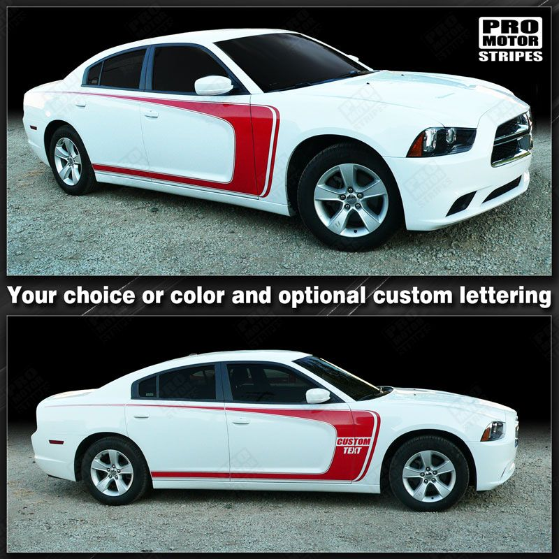 2011 2012 2013 2014 2015 2016 2017 2018 2019 Dodge Charger side  door  rocker panel Decals Stripes 122603265863-1