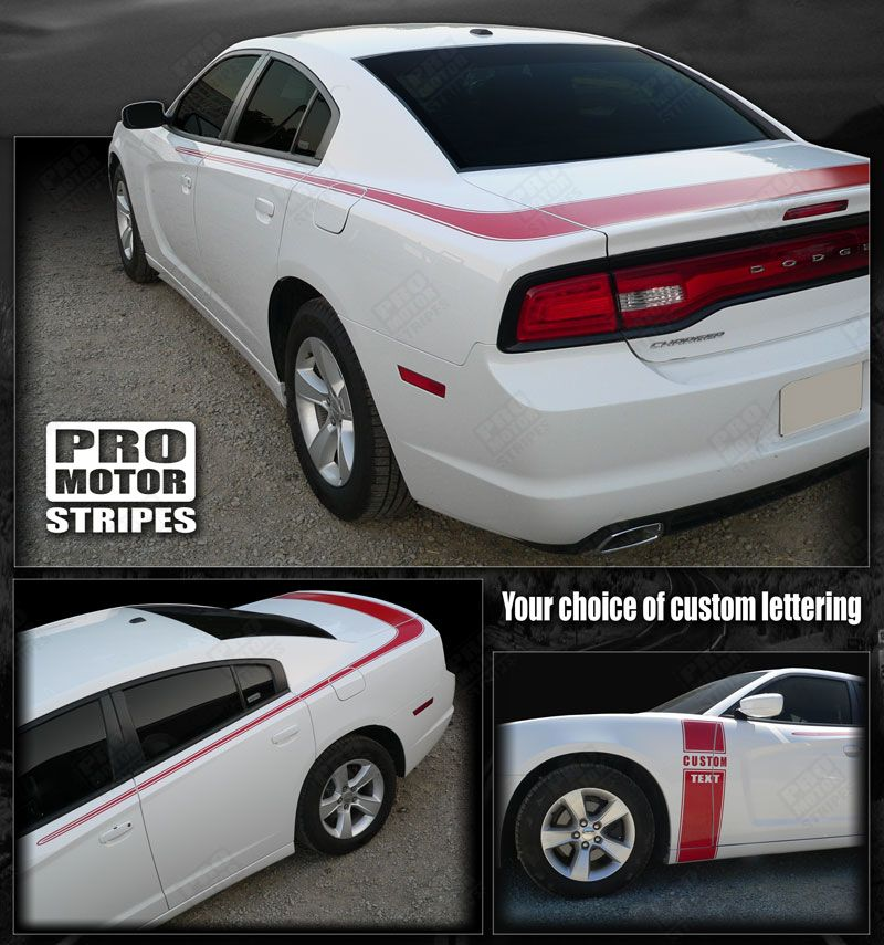 Dodge Charger 2011-2019 Valiant Style Trunk & Side Stripes 122551586609
