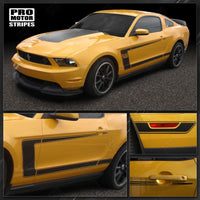 Ford Mustang 2010-2012 BOSS 302 Style Hood & Side C-Stripes 122606572172-2