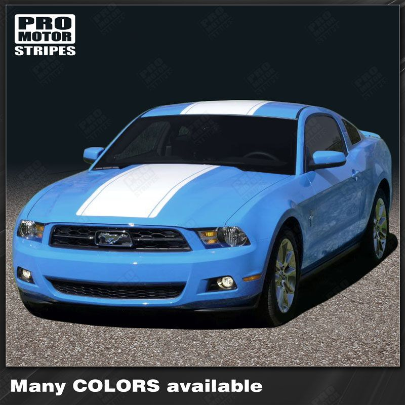 2010 2011 2012 Ford Mustang hood  trunk  bumper  roof Decals Stripes 122606574873-1
