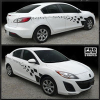 Mazda 3 2009-2013 Checkered Racing Full Side Stripes