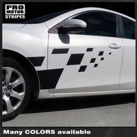 Mazda 3 2009-2013 Checkered Rally Racing Side Stripes