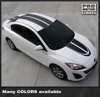 2009 2010 2011 2012 2013 Mazda 3 hood  trunk  roof Decals Stripes 132229427704-1