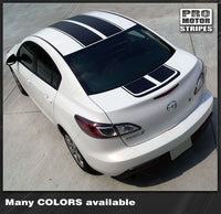 2009 2010 2011 2012 2013 Mazda 3 hood  trunk  roof Decals Stripes 132229427704-2