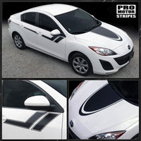 Mazda 3 2009-2013 Hood and Side Sport Hash Stripes