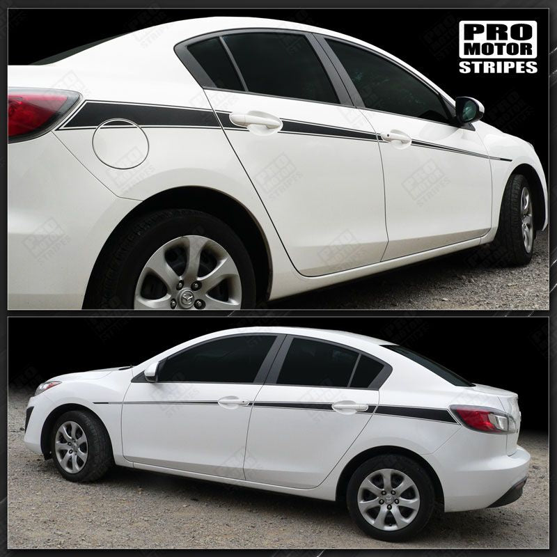 2009 2010 2011 2012 2013 Mazda 3 side  door Decals Stripes 132229430434-1