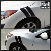 Mazda 3 2009-2013 Racing Fender Hash Side Stripes