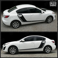 Mazda 3 2009-2013 Rally Racing Side Hockey Door Stripes